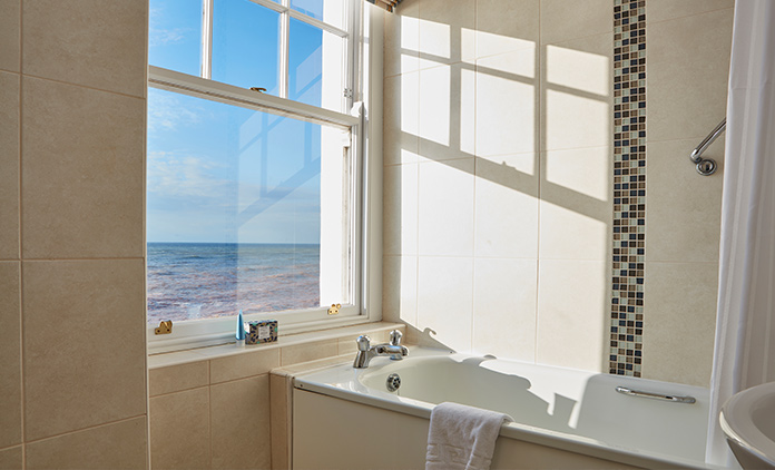 Bathroom with a sea view, Sidmouth