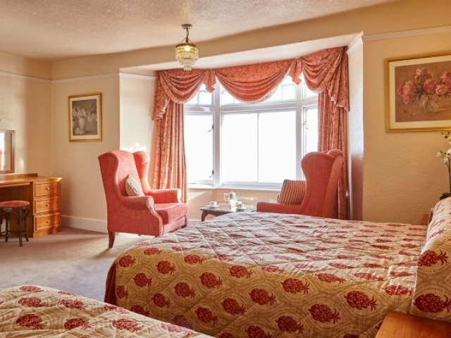 Deluxe sea view bedroom at The Royal York & Faulkner Hotel, Sidmouth