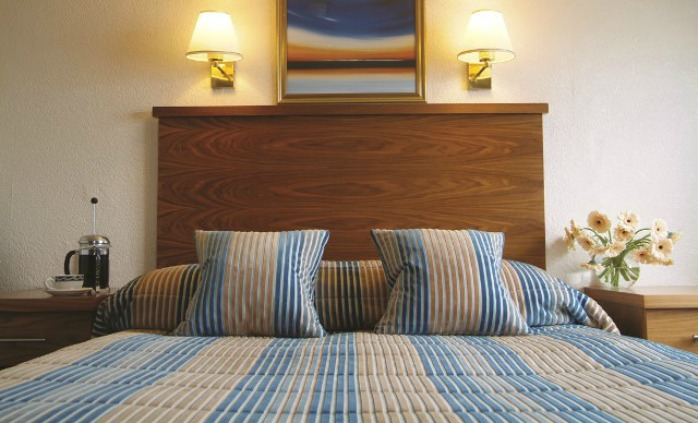Sea view double bedroom at The Royal York & Faulkner Hotel, Sidmouth