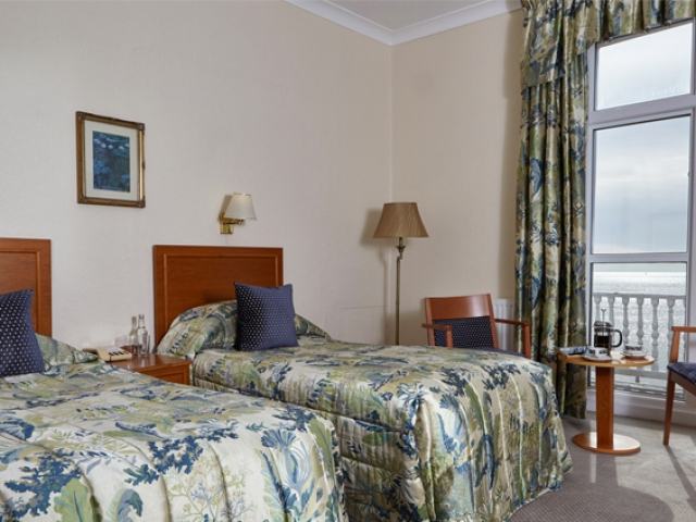 Superior sea view twin bedroom at The Royal York & Faulkner Hotel, Sidmouth