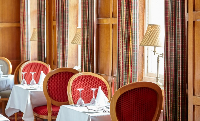 Enjoy silver service in our oak panelled restaurant, Sidmouth