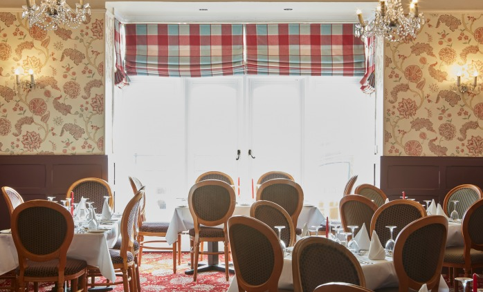Our restaurant overlooks the sea and Esplanade, Sidmouth