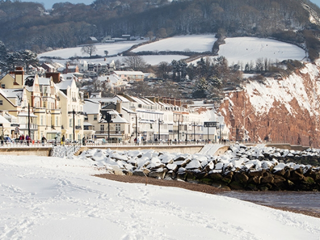 Winter view of Salcombe Hill, Sidmouth