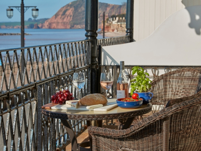 Enjoy magnificent views from the York Suite balcony, Sidmouth