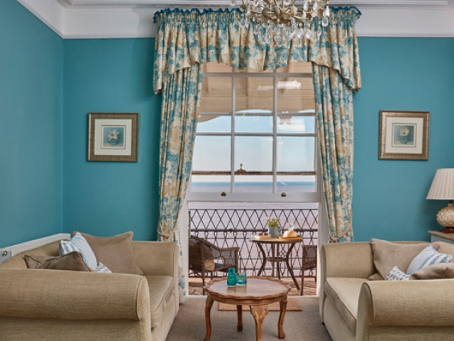 Sea views from the Faulkner Suite, Sidmouth
