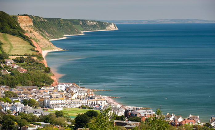 View of the Jurassic Coastline, Sidmouth
